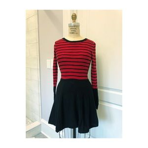 Express Red and Black Sweater Dress